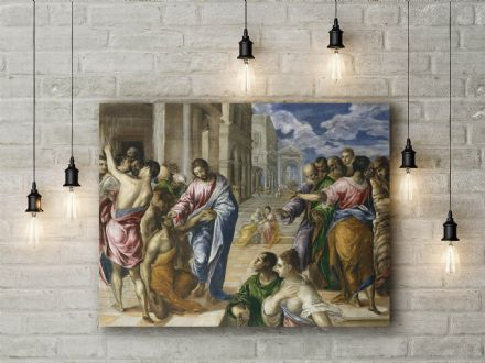 El Greco: Christ Healing the Blind Man. Fine Art Canvas.